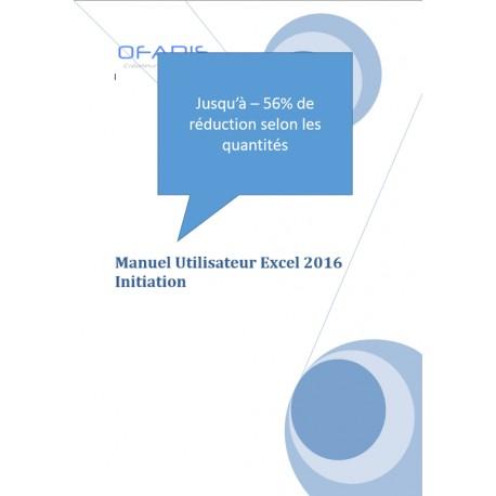 Manuel Excel Initiation 2016