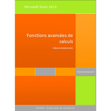 Manuel Autoformation Excel 2013 Fonctions de calculs avancées