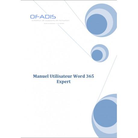 Manuel Word Expert 365