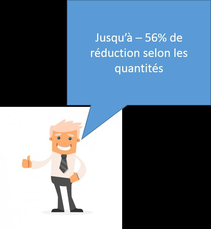 Des réductions allant jusqu'à 56% selon les collections et titres